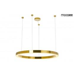 Lustra moderna Ring LUXURY LED auriu Ø90 cm