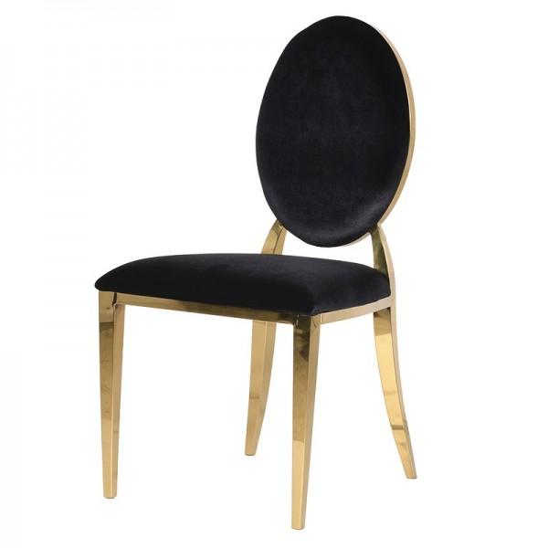Chair Viena black gold legs