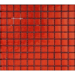 Mozaic rosu din sticla cu sclipici GL058