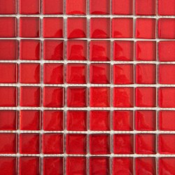 Mozaic rosu din sticla GL094
