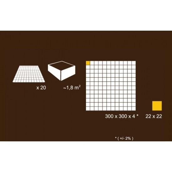 Mozaic alb din sticla MGL013