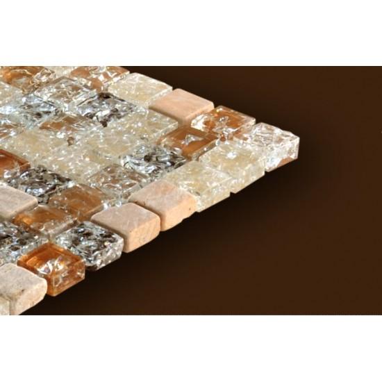 Mozaic Sticla si Marmura Crem MMX010