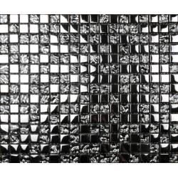 Mozaic sticla argintiu cu insertii metalice XX-013