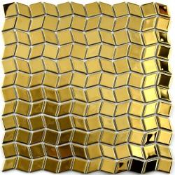 Mozaic din sticla metalic auriu MGL036