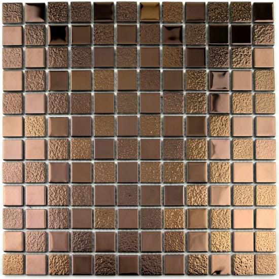 Mozaic din sticla metalic cupru MGL035