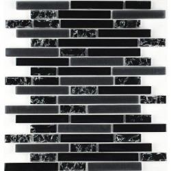 Mozaic din sticla neagra baghete GL105