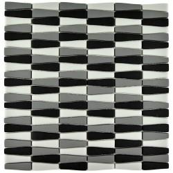 Mozaic sticla pt. piscina alb-gri-negru MBO007