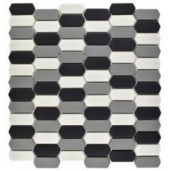 Mozaic sticla pt. piscina alb-gri-negru MBO010