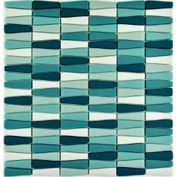 Mozaic sticla pt. piscina bleu-turcoaz MBO009