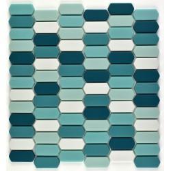 Mozaic sticla pt. piscina bleu-turcoaz MBO012