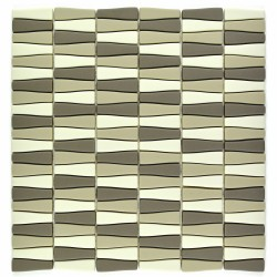 Mozaic sticla pt. piscina crem-oliv MBO008
