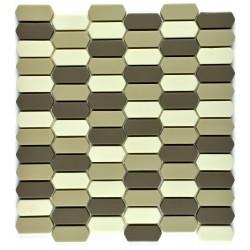 Mozaic sticla pt. piscina crem-oliv MBO011
