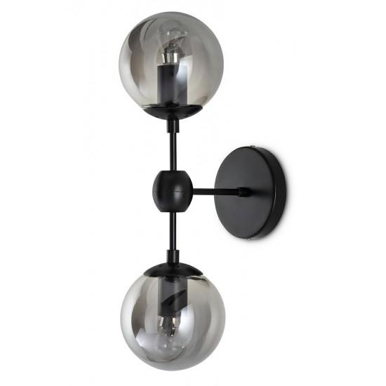 Aplica moderna Planetario 2 negru Ø14 cm