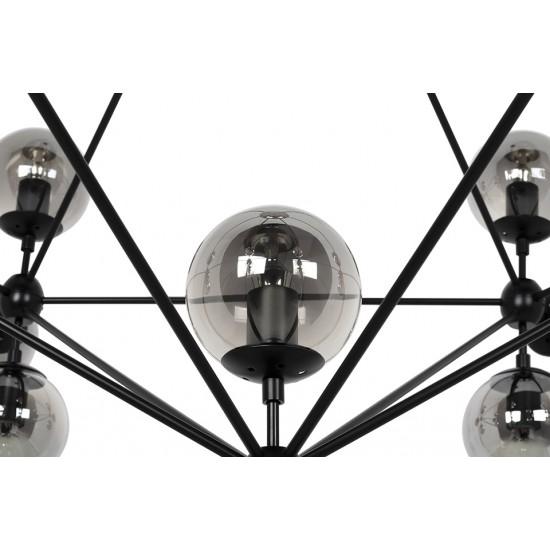 Lustra moderna Planetario 2 21 negru Ø170 cm