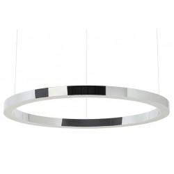 Lustra moderna Ring LED Argintiu Ø100 cm
