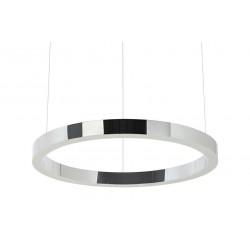 Lustra moderna Ring LED argintiu Ø60 cm