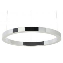 Lustra moderna Ring LED argintiu  Ø80 cm