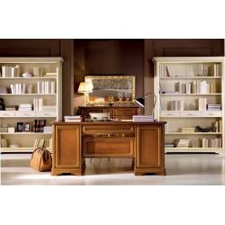 Biblioteca din lemn masiv cu 3 sertare Aldo